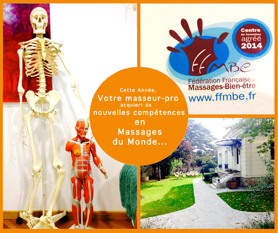 Massage bien-être à Paris,  nouvelles compétences en Massages du Monde pour Masseur-Pro